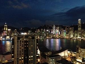 九龍側から見た香港島の夜景