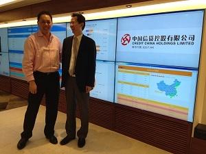 中国信貸 彭CEOと記念写真