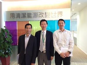 漢能 林CFO(左)