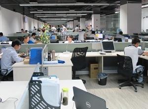 Qテクノロジーオフィス内風景