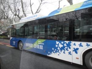杭州市内 BYD電気バス